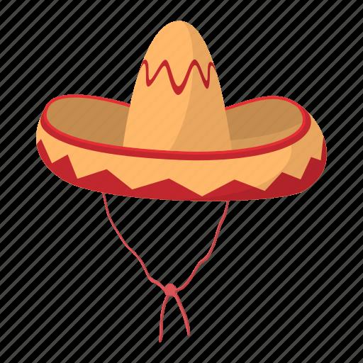 cartoon, culture, hat, latin, mexican, mexico, sombrero icon