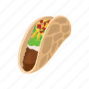 cartoon, dinner, food, meal, meat, mexican, tortilla icon