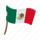 cartoon, country, flag, mexico, national, patriotic, patriotism icon