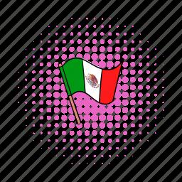 comics, country, flag, mexico, national, patriotic, patriotism icon