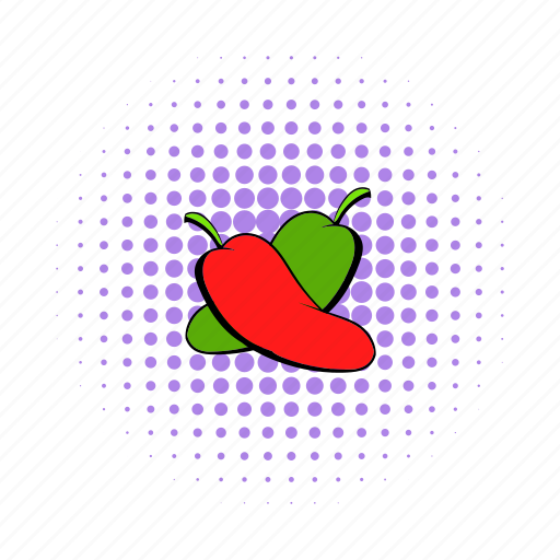 cayenne, chili, comics, food, hot, pepper, red icon