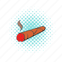 cigar, comics, cuban, luxury, relaxation, smoke, tobacco icon