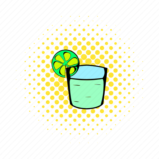 alcohol, bar, cocktail, comics, glass, lime, tequila icon