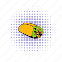 comics, dinner, food, meal, meat, mexican, tortilla icon