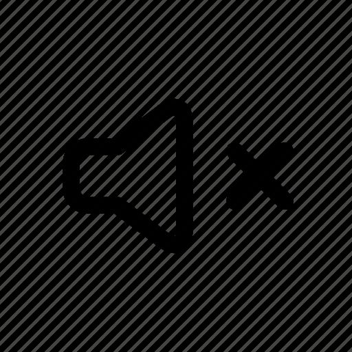 block, music, mute, none, sound, speaker, volume icon