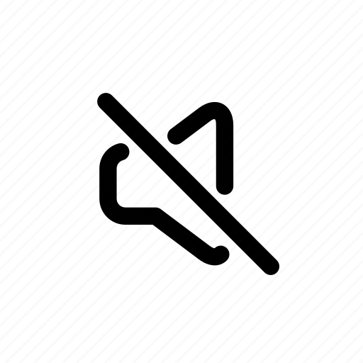 call, mute, silence, silent, sound, speaker, volume icon