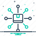 connect, container, content, delivery, distribute, distribution, exchange icon