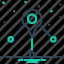 distance, distribution, gps, location, navigation, placeholder, pointer