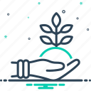 ecology, environment, fresh, friendly, natural, original, protection icon
