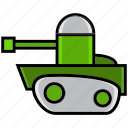 army, battle, cannon, military, tank, vat, war icon