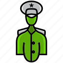 army, battle, captain, colonel, leader, military, war icon