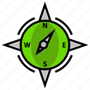 army, battle, compass, directions, military, war icon