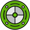 army, battle, focus, military, radioactive, target, war icon