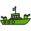 army, battle, craft, military, ship, vessel, war icon