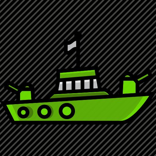 army, battle, craft, military, ship, vessel, war icon