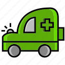 army, battle, car, medical, medical truck, military, war icon
