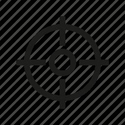 crosshair, military, shoot, target icon