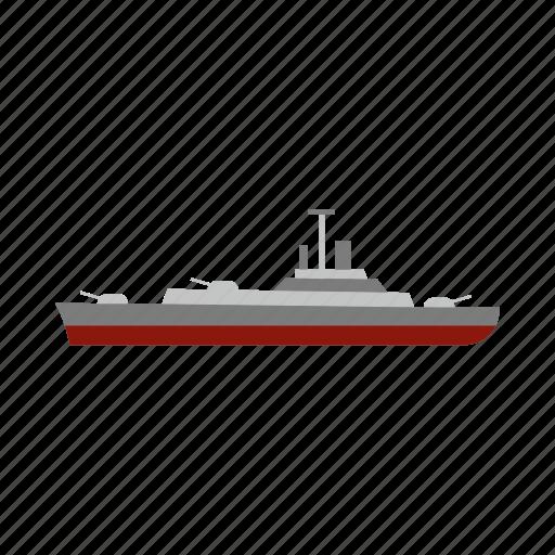 battleship, boat, marine, military, navy, sea, ship icon