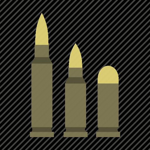 ammunition, bullet, caliber, gun, military, war, weapon icon