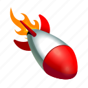 bomb, launch, military, missile, rocket, shoot icon