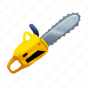 chainsaw, cut, killer, military, saw, slice icon