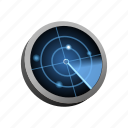 find, military, radar, search, war icon