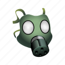 gas, mask, military, poison, protection icon