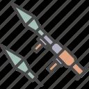 rocket missile, rpg icon