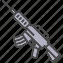 firearm, gun, rifle, spear, submachine gun icon