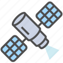 artificial satellite, satellite, space satellite icon