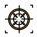 army, crosshair, war, weapon icon