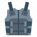 armor, body, clothing, military, protection icon