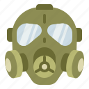 gas, mask, military, protect, toxic icon