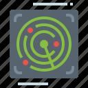 locator, military, radar, scan, technology icon