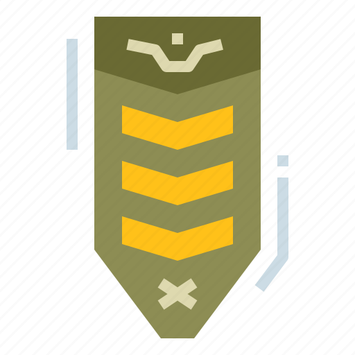 badge, medal, military, rank, star icon