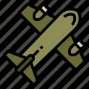 airplane, military, plane, supply icon