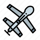 aircraft, drone, military, war, weapon icon