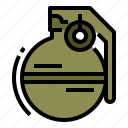 bomb, grenade, military, weapon icon