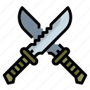 blade, knife, military, soldier, weapon icon