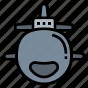 marine, military, submarine, war, weapon icon
