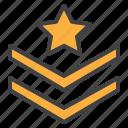 rank, chevron, straps, star