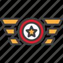 rank, shoulder, straps, star