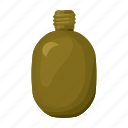 armament, army, flask, military, soldier, uniform, water icon