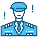 soldier, officer, police, security, safety, hat, person icon