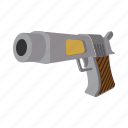 arsenal, gun, handgun, piece, pistol, roscoe, weapon icon