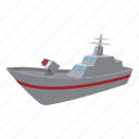battle, cannon, carrier, cartoon, ship, war, warship icon