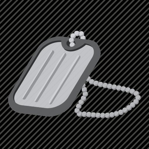 chain, label, metal, metallic, name, silver, tag icon