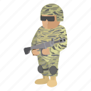 gun, heater, military, piece, rifle, soldier, war icon