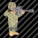 cartoon, heater, jaeger, rifle, sharpshooter, soldier, tirailleur icon