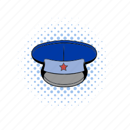 army, cap, clothing, comics, hat, military, officer icon